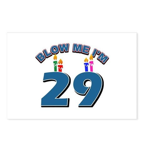 Blow Me I'm 29 Postcards (Package of 8)