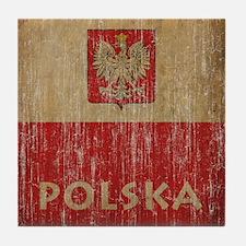 Vintage Polska Tile Coaster