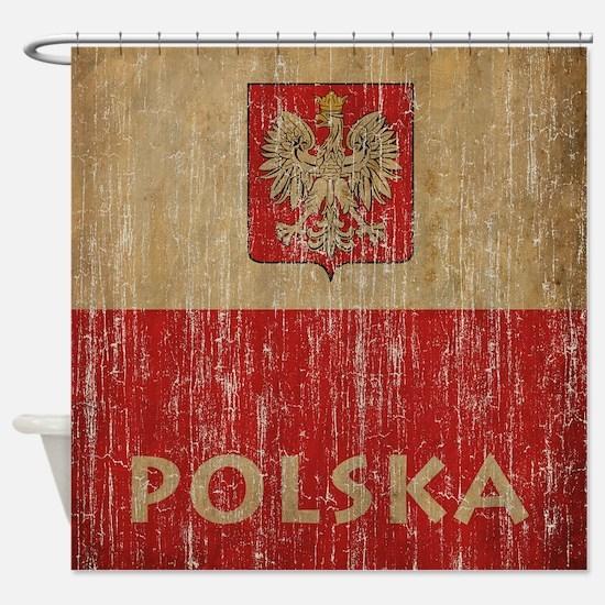 Vintage Polska Shower Curtain