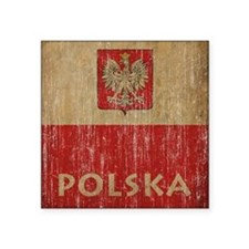 "Vintage Polska Square Sticker 3"" x 3"""