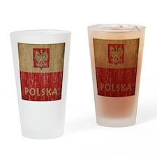 Vintage Polska Drinking Glass