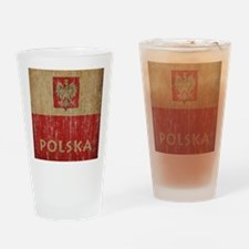Vintage Polska Drinking Glass
