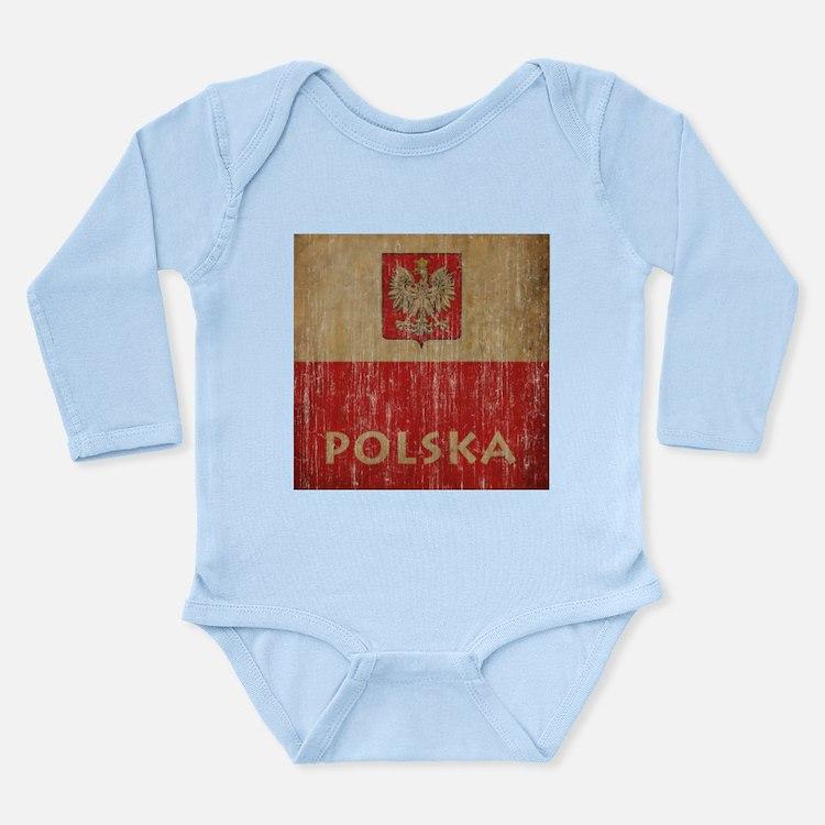 Vintage Polska Long Sleeve Infant Bodysuit