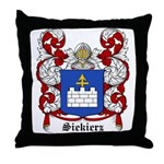 Siekierz Coat of Arms Throw Pillow