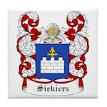 Siekierz Coat of Arms Tile Coaster