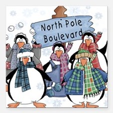 "northpoleblvd.png Square Car Magnet 3"" x 3"""