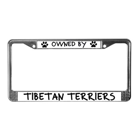 Owned by Tibetan Terriers License Plate Frame