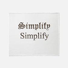 Simplify Simplify Throw Blanket