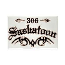 Saskatoon 306 Rectangle Magnet