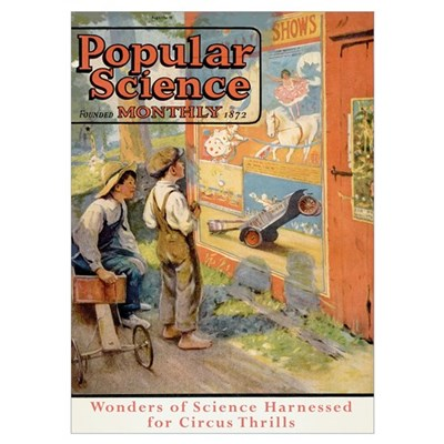 Popular Science Cover, July 1923 Poster
