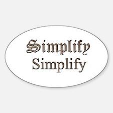 Simplify Simplify Decal