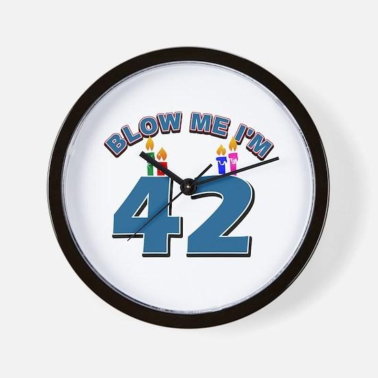 Blow Me I'm 42 Wall Clock