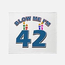 Blow Me I'm 42 Throw Blanket