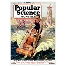 Popular Science Cover, August 1922 Poster
