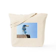 Cute Bluebird with Peanut Tote Bag