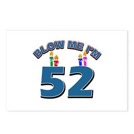Blow Me I'm 52 Postcards (Package of 8)