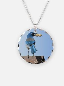Cute Bluebird with Peanut Necklace