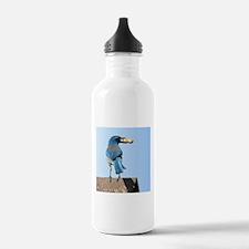 Cute Bluebird with Peanut Water Bottle