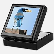 Cute Bluebird with Peanut Keepsake Box