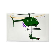 Helicopter3 Rectangle Magnet