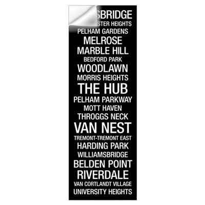 Bus Roll: Bronx Wall Decal