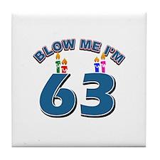 Blow Me I'm 63 Tile Coaster