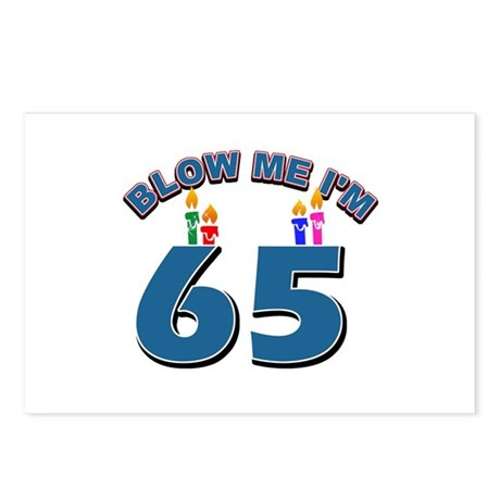 Blow Me I'm 65 Postcards (Package of 8)