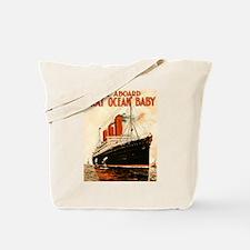 Vintage Ocean Liner Tote Bag