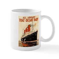 Vintage Ocean Liner Mug