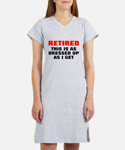 Retired Dressed Up Women's Nightshirt