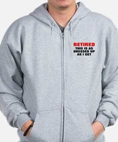 Retired Dressed Up Zip Hoodie