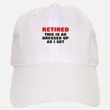 Retired Dressed Up Baseball Baseball Cap