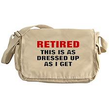 Retired Dressed Up Messenger Bag