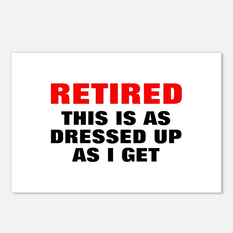 Retired Dressed Up Postcards (Package of 8)