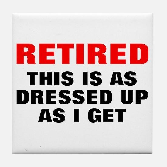 Retired Dressed Up Tile Coaster