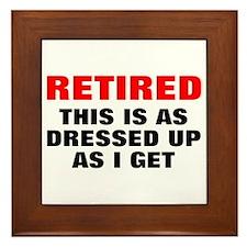 Retired Dressed Up Framed Tile