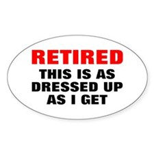 Retired Dressed Up Decal