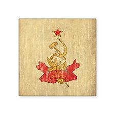 "Vintage Soviet Square Sticker 3"" x 3"""
