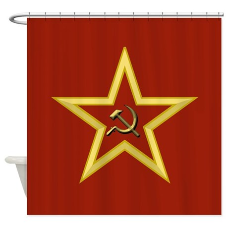 Soviet Star Shower Curtain