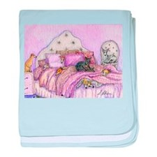 Sighthounds slumber party baby blanket