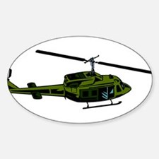 Helicopter4 Oval Decal