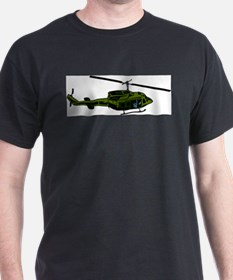 Helicopter4 Black T-Shirt