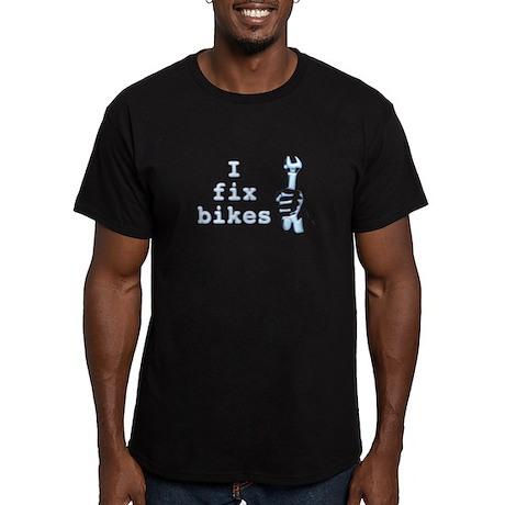 I Fix Bikes Men's Fitted T-Shirt (dark)