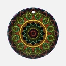 Mandala Eggs and Leaves Ornament (Round)