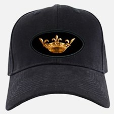 Gold Fleur de lis Crown Baseball Hat
