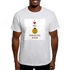 Biracial Baby/ Biracial Pride Ash Grey T-Shirt