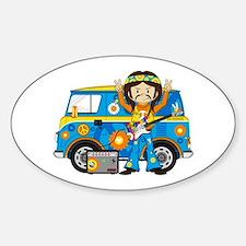 Hippie Boy and Camper Van Decal