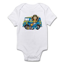 Hippie Boy and Camper Van Infant Bodysuit