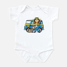 Hippie Boy and Camper Van Infant Bodysuit