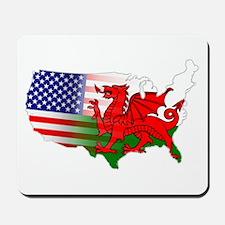 American Welsh Map Mousepad